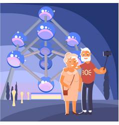 healthy active lifestyle retiree vector image