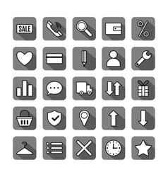 Icon set e-Commerce flat design shopping symbols vector image