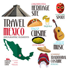 infographic elements for traveling to mexico vector image