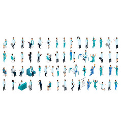 Isometrics a large set of characters vector