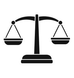 Judge balance icon simple style vector
