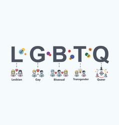 Lgbtq web icon for love parade community lesbian vector