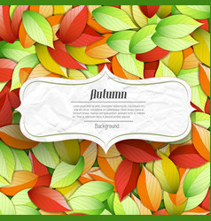 light autumn seasonal poster vector image