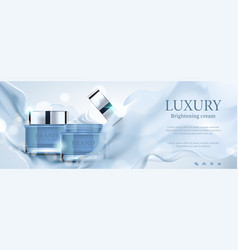 luxury banner cosmetic ads vector image