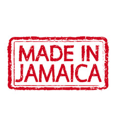 made in jamaica stamp text vector image