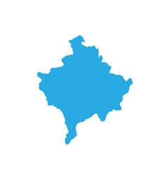 map of kosovo high detailed map - kosovo vector image