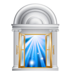 Marble door entrance vector