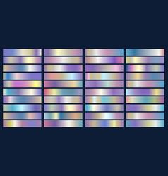 metallic foil elements vector image