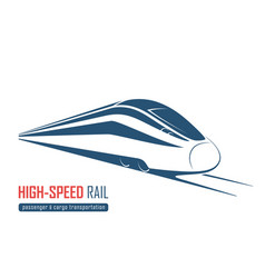 modern high speed rail emblem icon label vector image