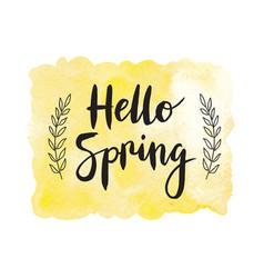 Motivaion poster Hello spring vector