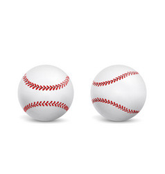 new baseball balls isolated realistic vector image