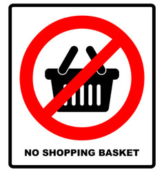 No shopping basket sign vector