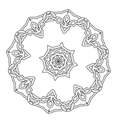 Ornamental round lace pattern Abstract ornament vector image vector image