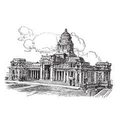 Palais de justice brussels vintage vector