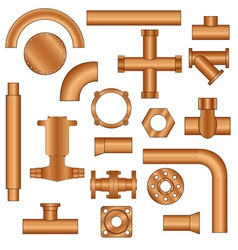 Pipelines and fittings vector