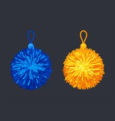 pompon soft balls vector image