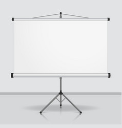 Presentation screen blank whiteboard vector