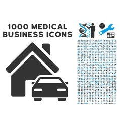 Property icon with 1000 medical business vector