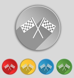 Race Flag Finish icon sign Symbol on five flat vector image