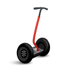 Realistic segway icon isolated on white eco vector