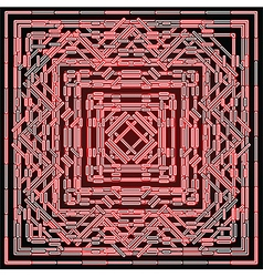 Red shining abstract vector
