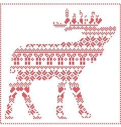 Reindeer body in scandinavian pattern vector image