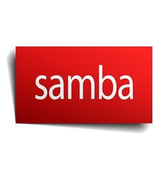 Samba red paper sign on white background vector