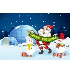 Santa claus and gifts vector
