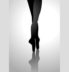 silhouette of a ballerinas feet vector image