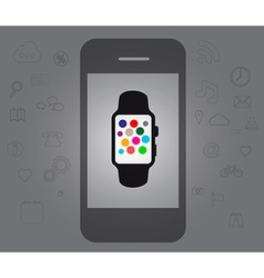 Smart watch and smart phone vector image