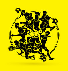soccer player team composition vector image