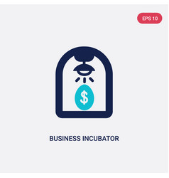 two color business incubator icon from general-1 vector image