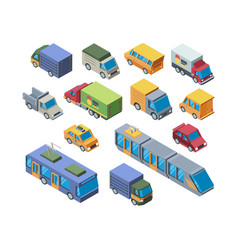 urban transport isometric 3d vector image