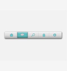white clean navigation bar vector image
