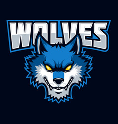 wolves sign and symbol logo vector image