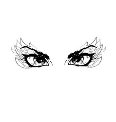 Women burn eyes looking on the fire vector
