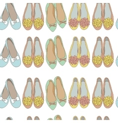 Women shoes seamless pattern vector