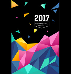 abstract colorful triangle geometric background vector image vector image