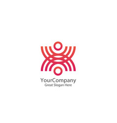 abstract community circle people logo united vector image