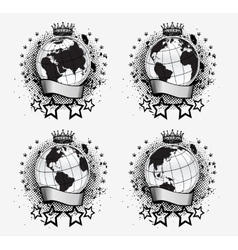 Globes Set vector image vector image