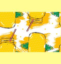 hand drawn abstract creative detox water vector image vector image