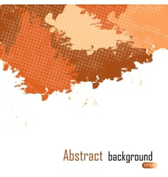 Orange abstract paint splashes background w vector image vector image