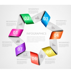 Set of info graphics banners with numbers vector image vector image