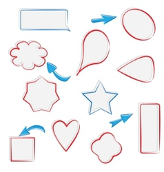 text frames and arrows vector image