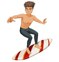 A man surfing vector