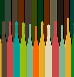 Background with bottles vector image