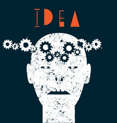 Creative of human idea vector image