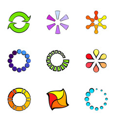 different figures icons set cartoon style vector image vector image