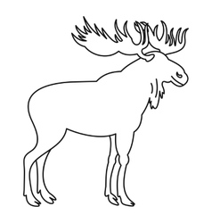 Moose icon outline style vector image vector image
