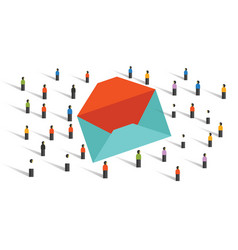 send email newsletter to the crowd marketing blast vector image vector image